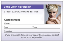 Appointment Business Card, Chris Dixon Hair Design