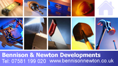 Bennison & Newton Developments Business Card